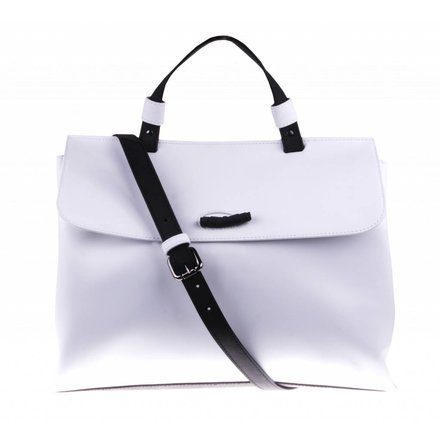 White shoulder bag - vegan - BAG 2234-V