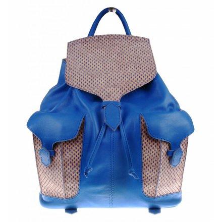 Blauwe backpack met kurk - BAG 2159