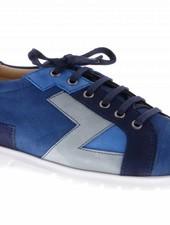 Blauwe sneakers met patchwork - PF2016