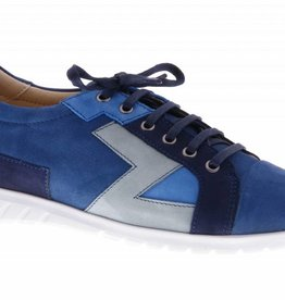 Blue sneakers with patchwork - PF2016