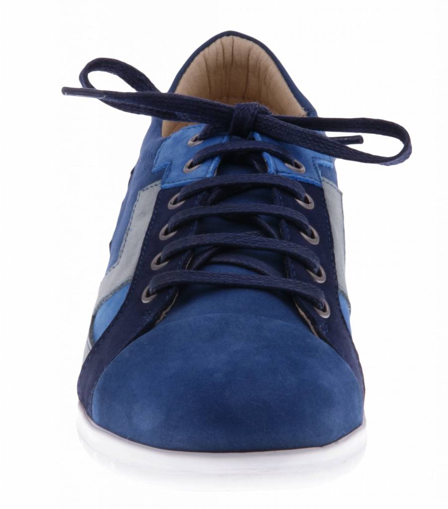 PRETTY&FAIR Blue sneakers with patchwork - Combi Nobuck Jeans - PF2016