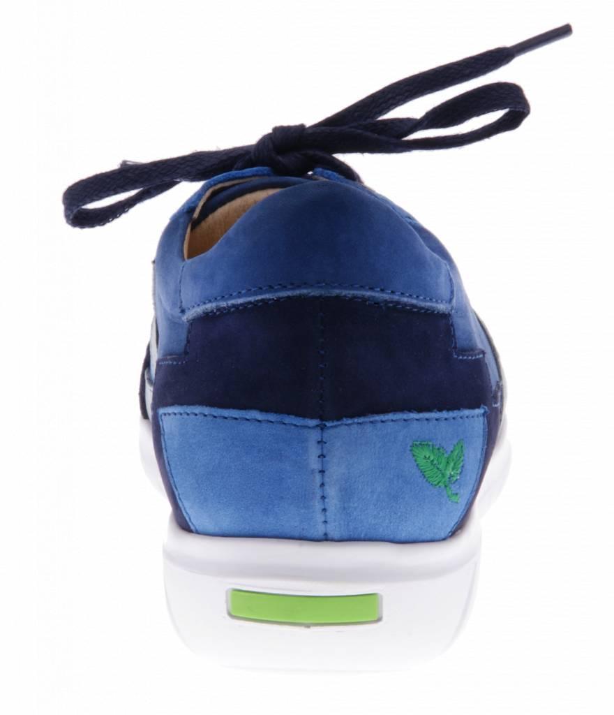 PRETTY&FAIR Blauwe sneakers met patchwork - Combi Nobuck Jeans - PF2016