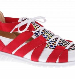 Coloful red slip on's - vegan - PF2008-V