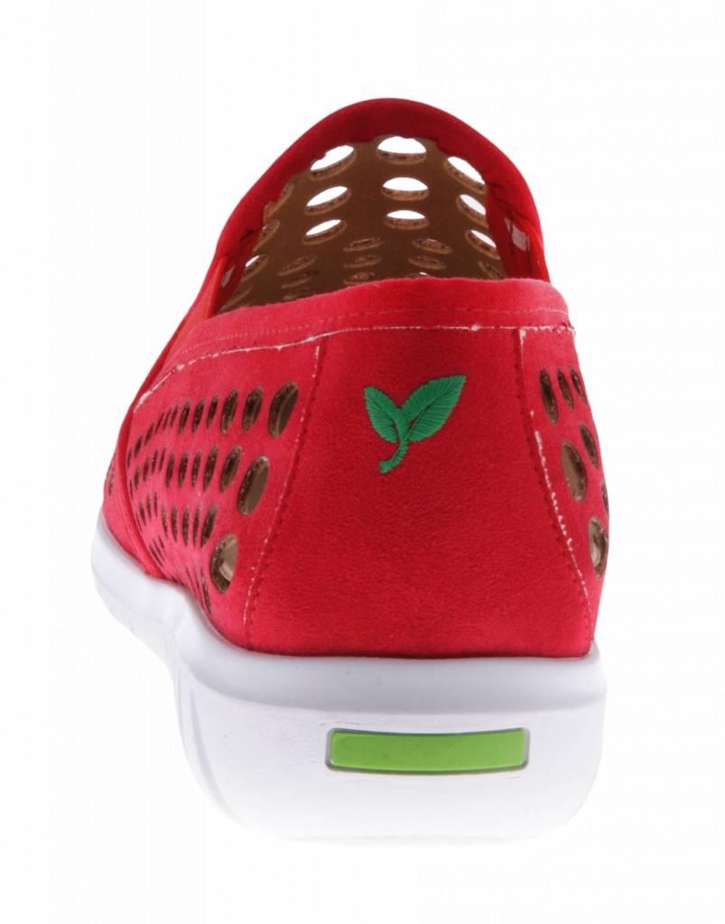 PRETTY&FAIR Red slip on's - vegan - Nobuck Red - PF2009-V