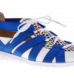 Colorful blue slip on's - vegan - PF2008-V