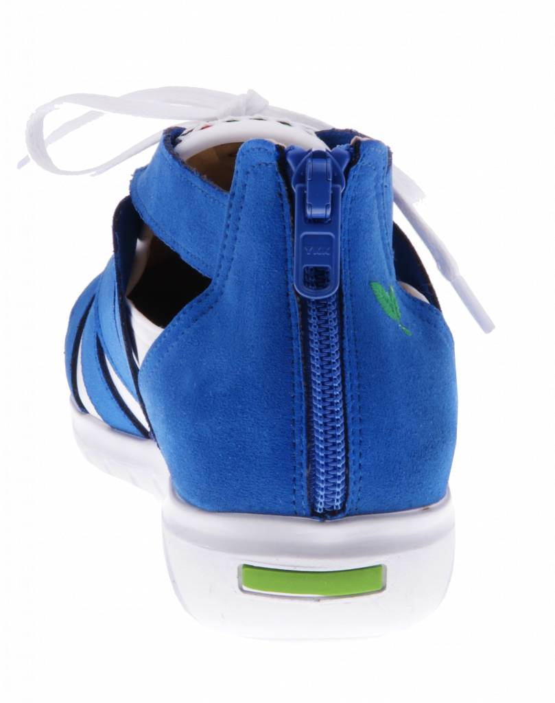 PRETTY&FAIR Colorful blue slip on's - vegan - Multi Cobalt - Nappa White - PF2008-V
