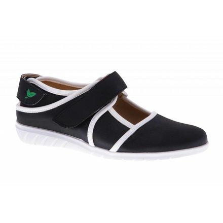 Zwarte klittenband schoen - vegan - PF2002-V