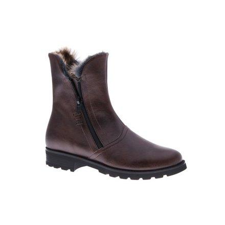 Stylish brown boots with zipper - vegan - PF008-V