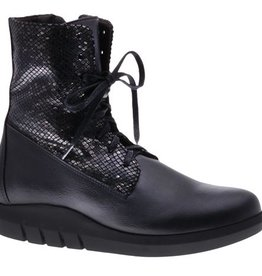Cool black laced boots - vegan - PF3001-V