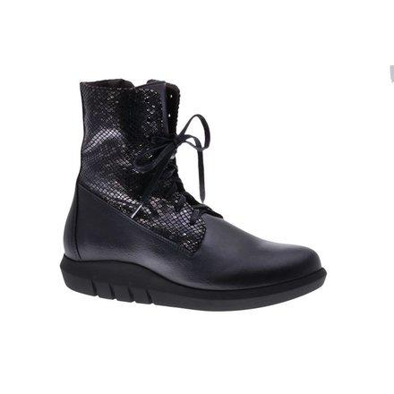 Cool black laced boots - vegan - PF3001-V