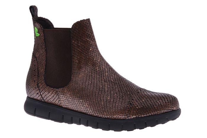 PRETTY&FAIR Metallic Chelsea boot - vegan - Metallic Coffee - PF3006-V
