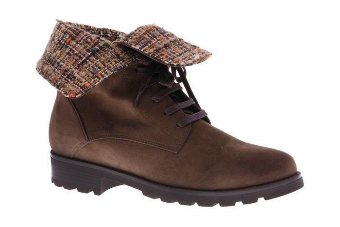 PRETTY&FAIR Brown fashionable ankle booty - Nobuck Cognac - Litzy Coffee - PF3008