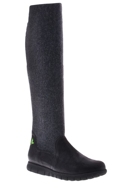 PRETTY&FAIR High black/grey boot - Bandolero Black - Velt Grey/Black - PF3012