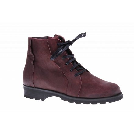 Bordeaux ankle booty with zipper -PF001