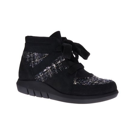 Black ankle booty with big laced - PF3009