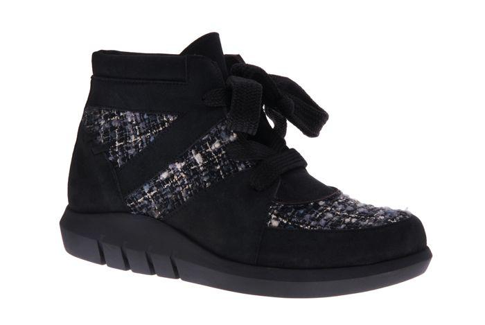PRETTY&FAIR Black ankle booty with big laces - Nobuck Black - Litzy Black -  PF3009