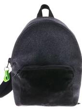 Zwart met grijs vilt backpack