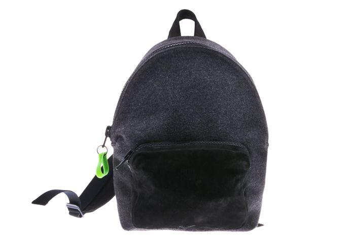 Zwart met grijs vilt - Backpack Grey Velt - Nobuck Black from PRETTY&FAIR