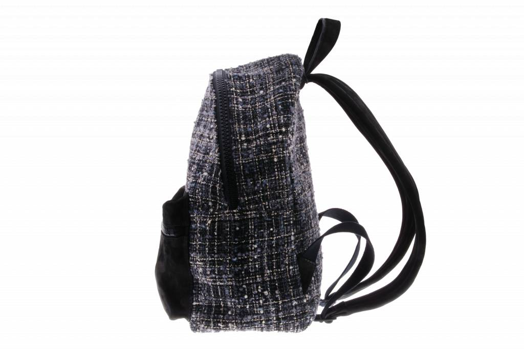 PRETTY&FAIR Black with fabric backpack - Backpack Litzy Black - Nobuck Black