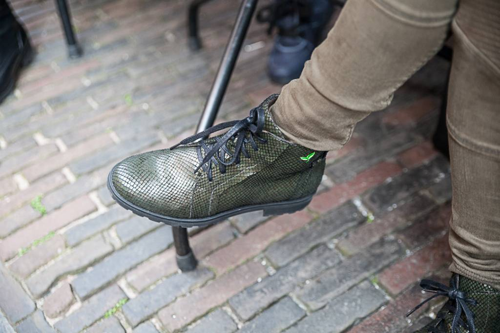 PRETTY&FAIR Pyton Olive ankle booty with zipper - vegan - Pyton Olive -  PF001-V