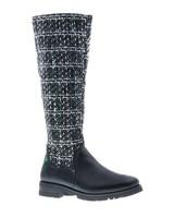 Classic black high boot- vegan - PF3004-V