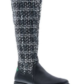 Classic black high boot- vegan - PF3004-V