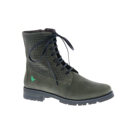 Cool olive green ankle booty with print - PF3001