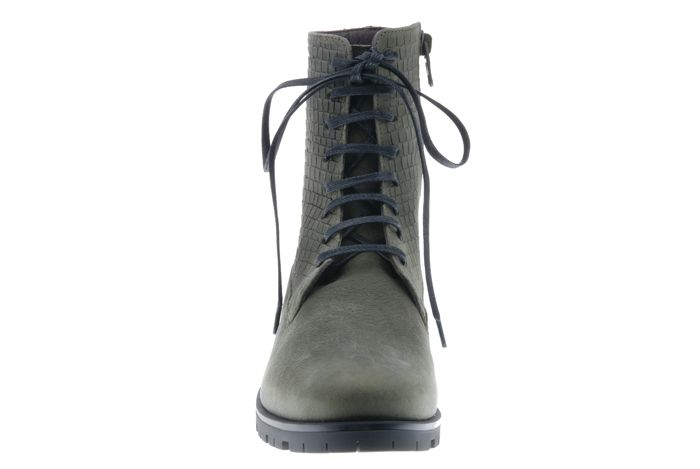 PRETTY&FAIR Cool olive ankle booty with print - Bandolero Olive - Print - PF3001