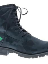 Stoere zwarte combat veter-laars  - vegan - PF3001-V - Nieuwe Collectie