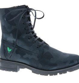 Cool black combat laced boots - vegan - PF3001-V