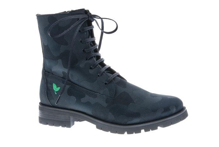 PRETTY&FAIR Cool black combat laced boots - vegan - Combat Black - PF3001-V