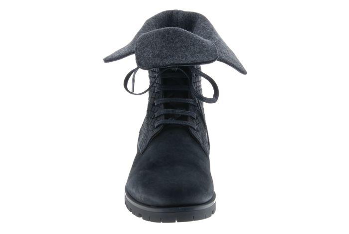 PRETTY&FAIR Black unique ankle booty -  Bandolero Black - Velt Grey - PF3008