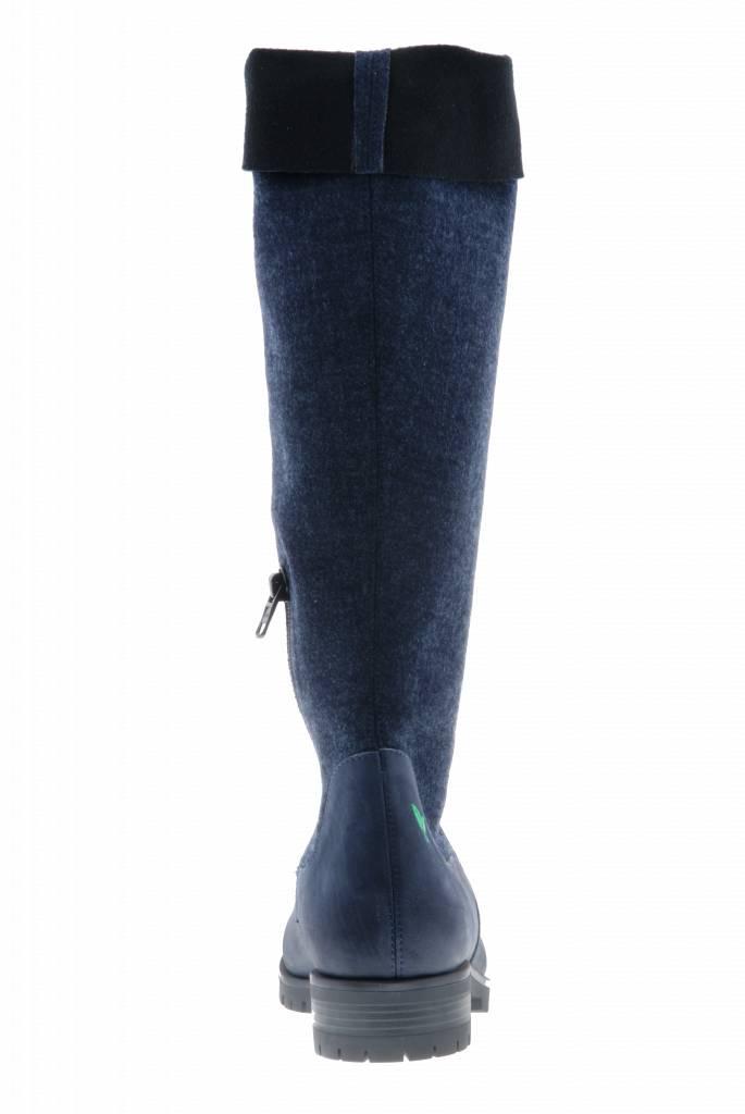 PRETTY&FAIR Hoge blauw/zwarte laars - Bandolero Blue - Velt Blue/Black - PF3012