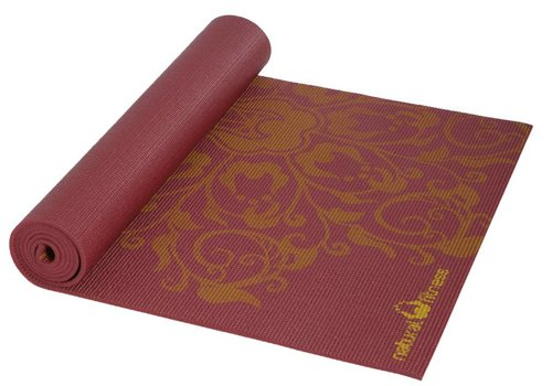 Natural Fitness Eco-Smart Yoga Mat - Burgundy/Mustard