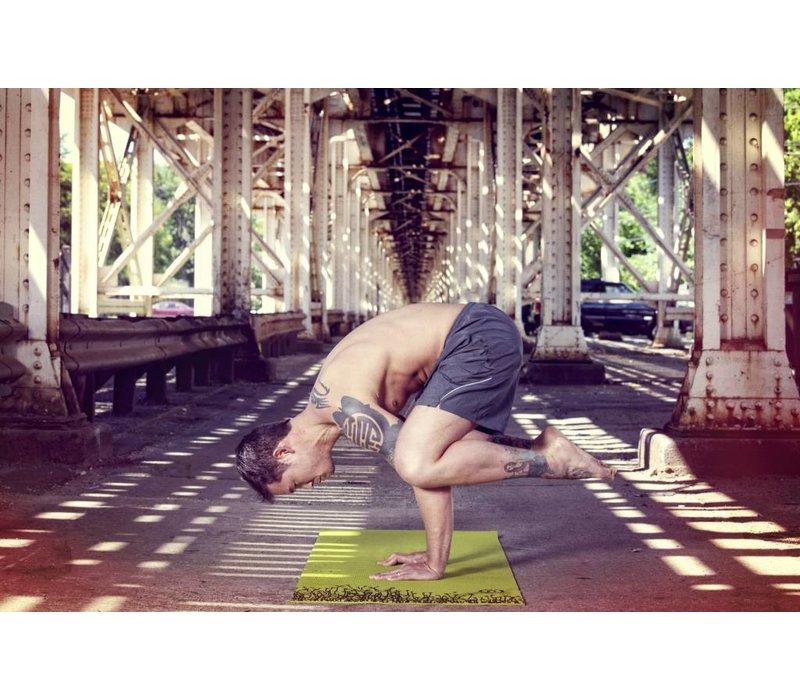 "Yoga Matte Eco-Smart - Burgundy/Mustard - 24"" x 72"" x 6mm"