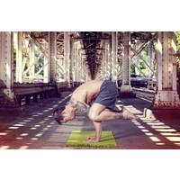 """Yoga Matte Eco-Smart - Indigo/Aqua - 24"""" x 72"""" x 6mm - Copy"""