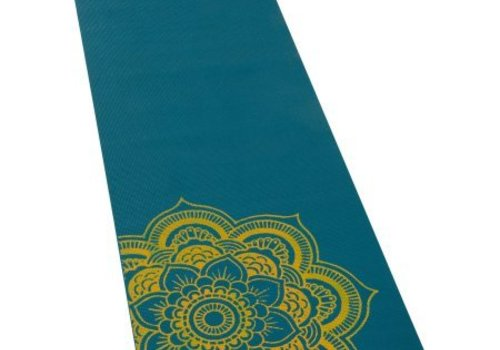 Natural Fitness Eco-Smart Yoga Mat - Teal/Yellow