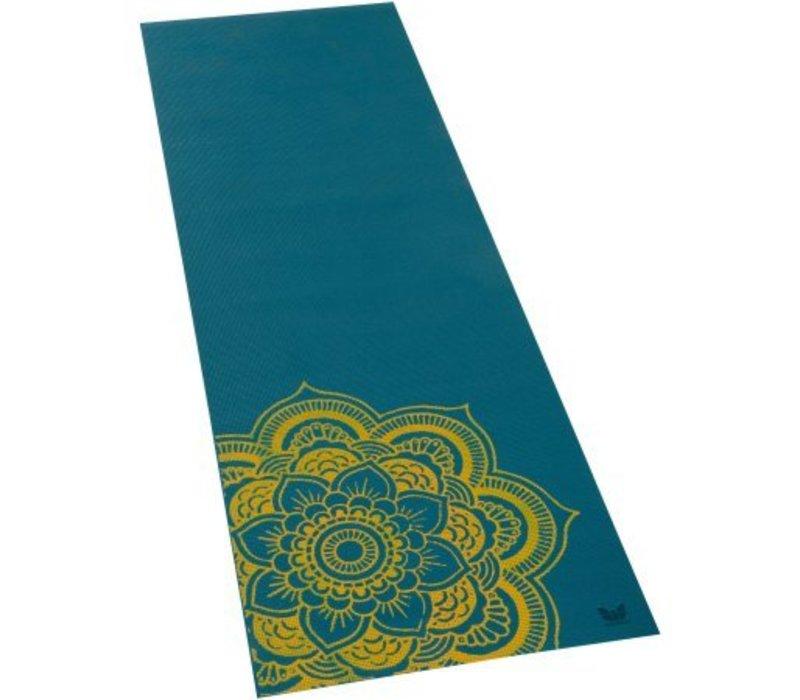 "Yoga Matte Eco-Smart - Teal/Yellow - 24"" x 72"" x 6mm"