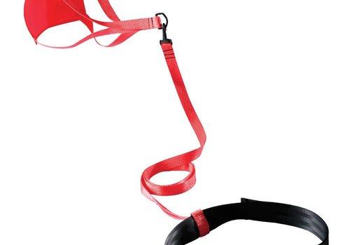 FINIS Schwimm-Fallschirm für Widerstandstraining, 8inch, rot
