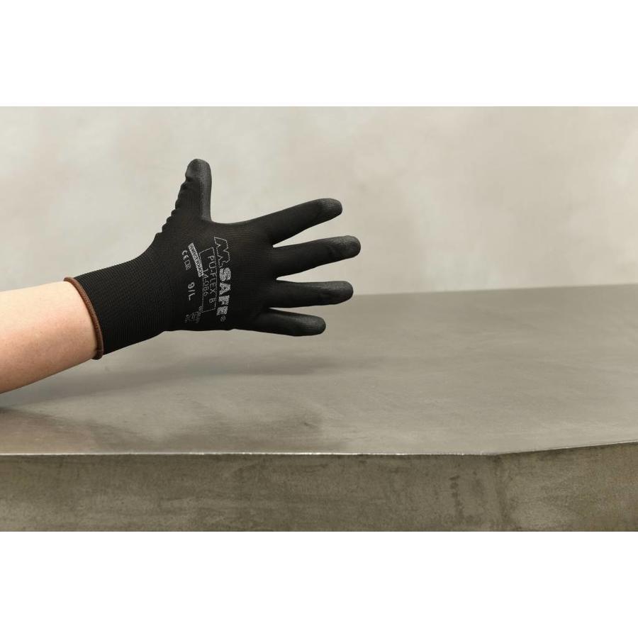 Handschoen PU-flex nylon zwart-1