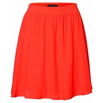 Selected Orange knee skirt