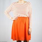 Selected Orange knee skirt