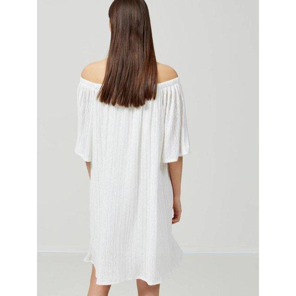 Selected Off shoulder white dress