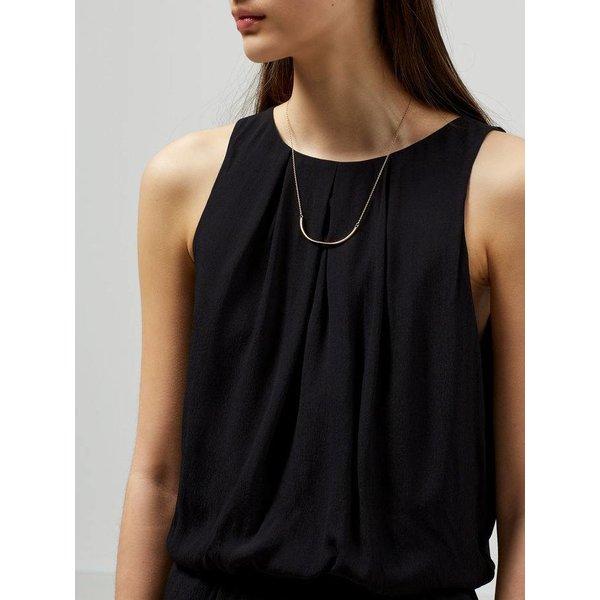 Selected Black sleeveless  jumpsuit
