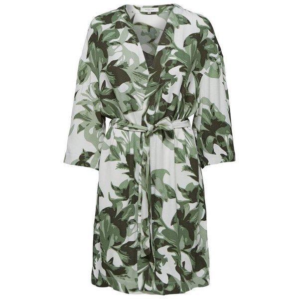 Selected Flower printed kimono