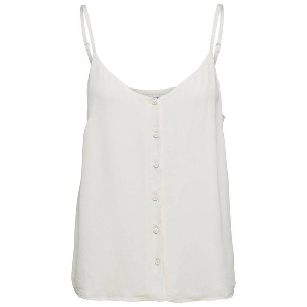 Selected Off white strap top