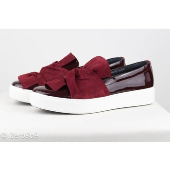 kanna Bordeaux bow sneakers