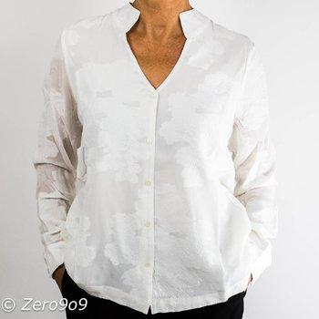 Selected White flower shirt