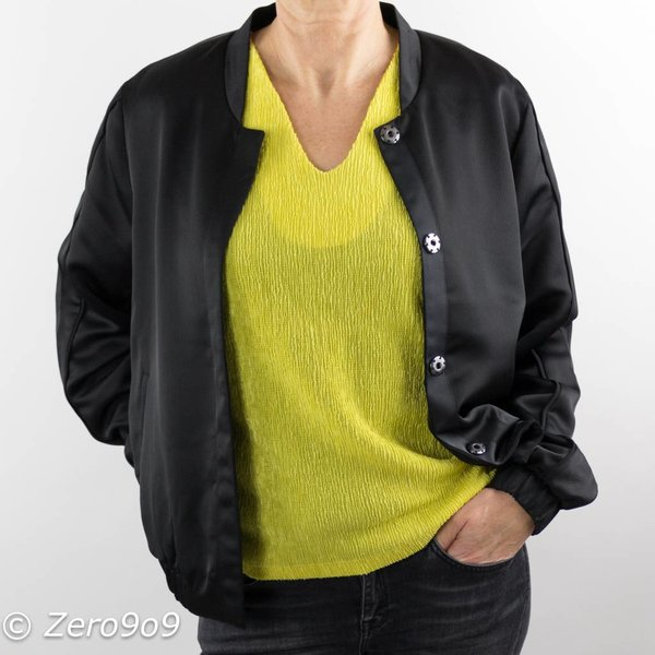 French Connection Vneck citron top