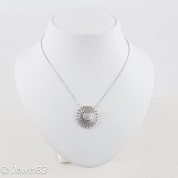 925e Crystal sunflower necklace